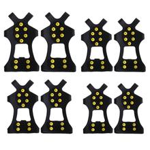 10 Studs Anti-Skid Ice Winter Climbing No Slip Snow Shoes Spikes Grips Cleats Over Shoes Covers Crampons