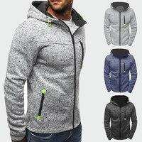 Демисезонные мужские куртки пальто с капюшоном повседневные толстовки на молнии мужской спортивный костюм модная куртка мужская одежда ве...