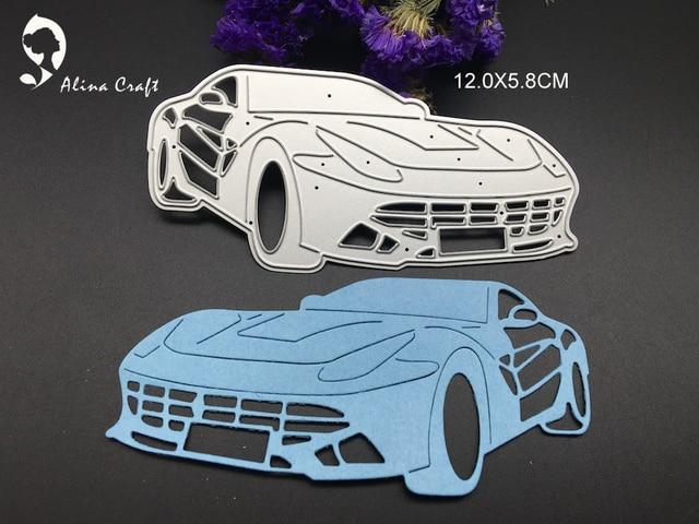 metal cutting dies race car vehicle sports car boy toy scrapbook