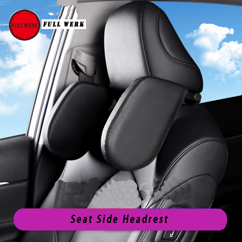 1 pc Leather Car Styling Seat Cover Side Sleeping Headrest Adjustment Neck Pillow for Camry 2018