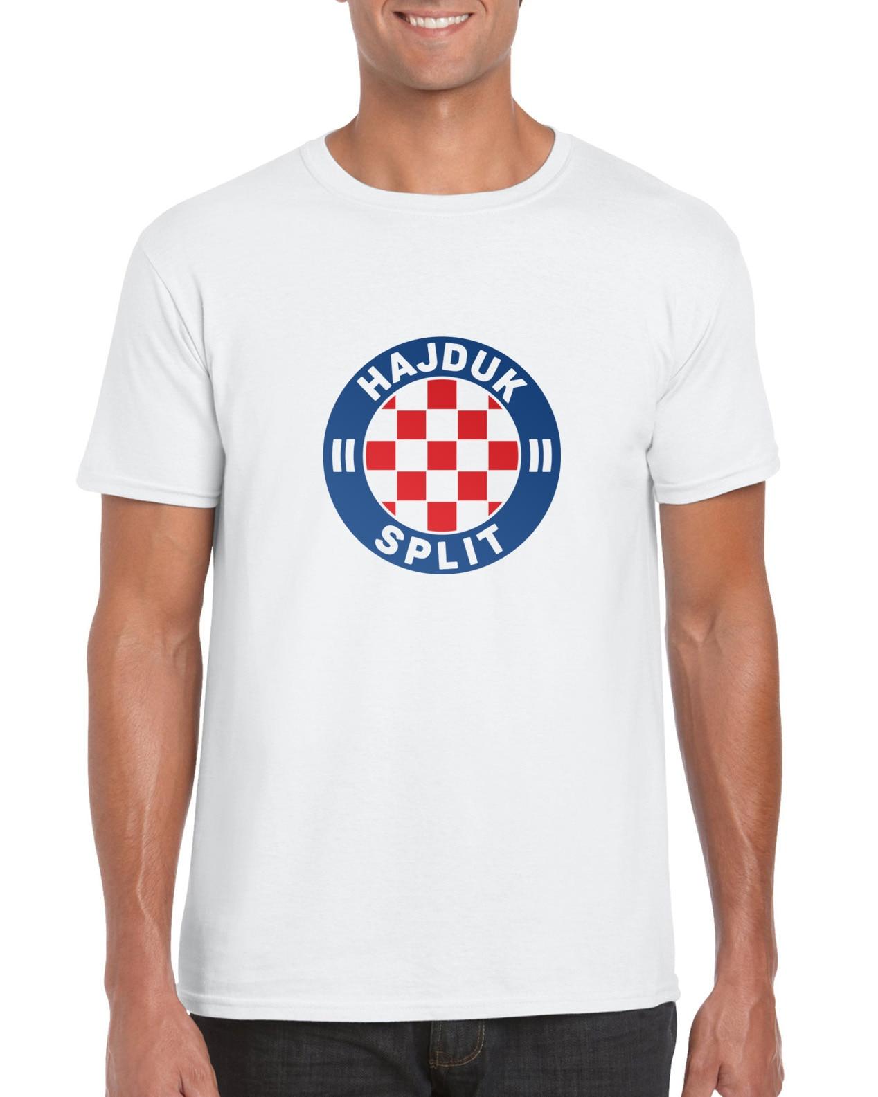 Hajduk Сплит | Хорватия | футбол | клуб | Белый | Fan Made | Футболка модный стиль Мужская футболка, 100% хлопок Классическая футболка
