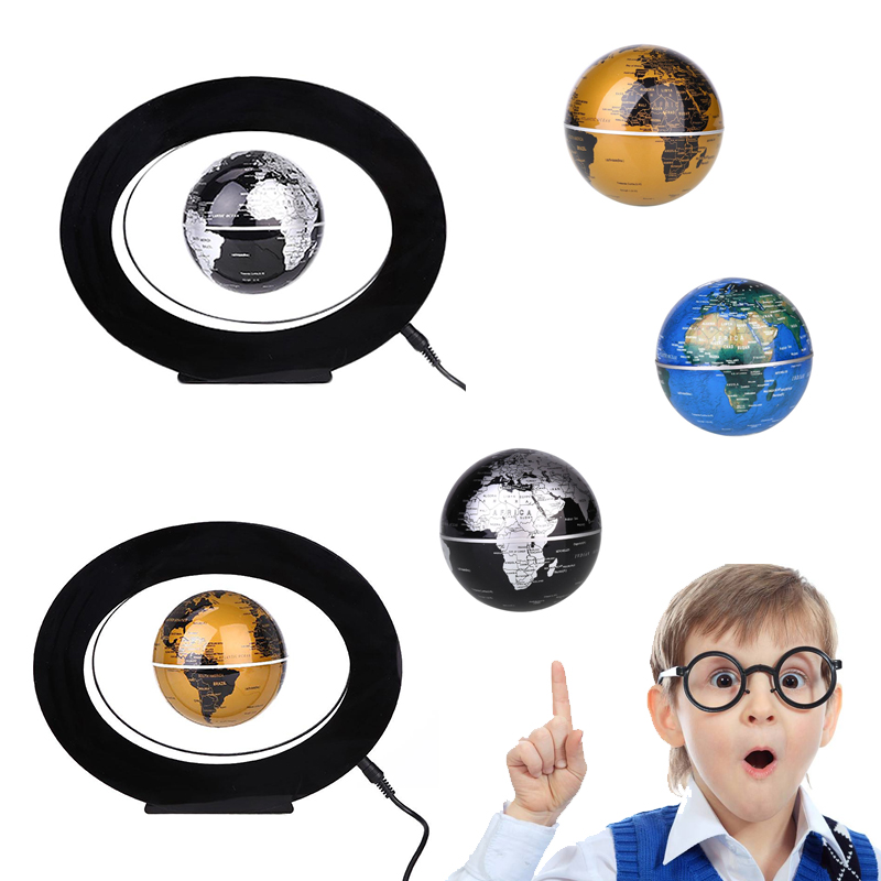 LED Light Magnetic Levitation Floating Globe Light English World Map Lamp Home Decoration Kid Birthday Gifts magnetic floating levitation 3d print moon lamp led night light 2 color auto change moon light home decor creative birthday gift