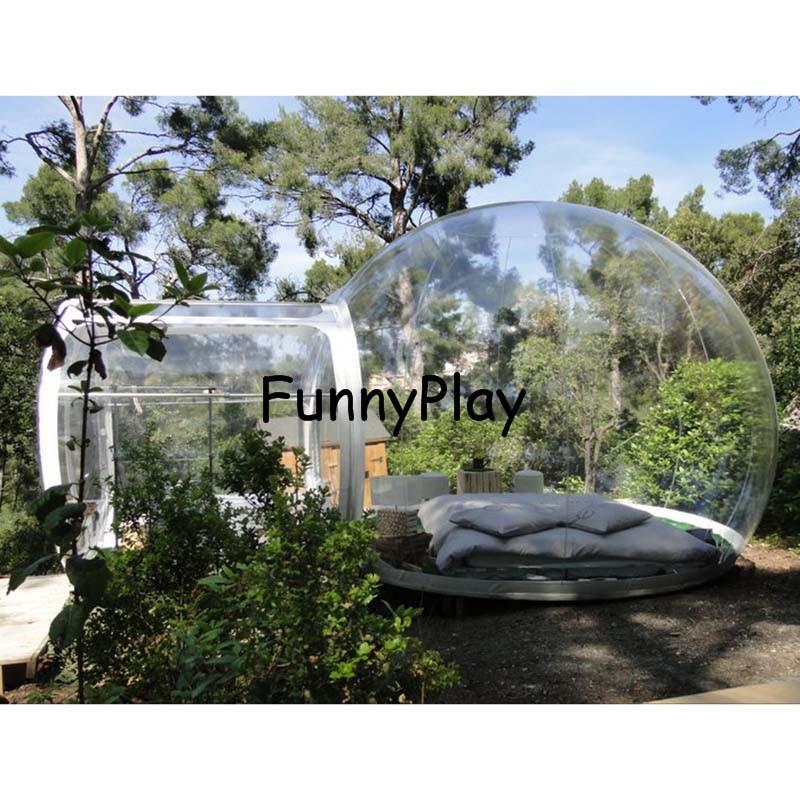 Tente d'arbre à bulles, salle à bulles gonflable, tentes de mariage à vendre, tentes d'air gonflables, dômes à bulles à l'hôtel de luxe Finn Lough