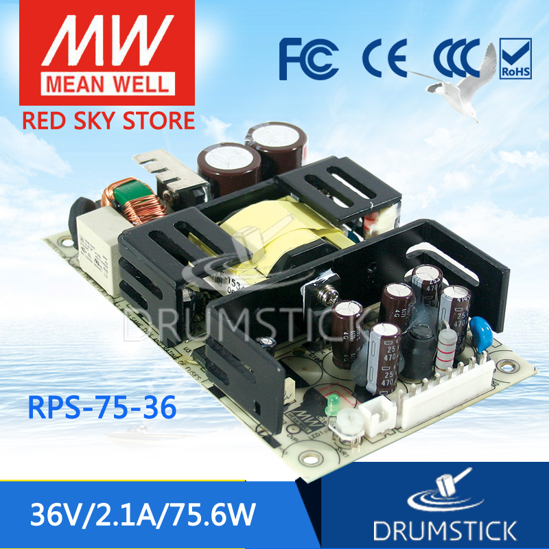 Selling Hot MEAN WELL RPS-75-36 36V 2.1A meanwell RPS-75 36V 75.6W Single Output Medical Type [freeshiping 1pcs] mean well original rps 75 12 12v 6 3a meanwell rps 75 12v 75 6w single output medical type