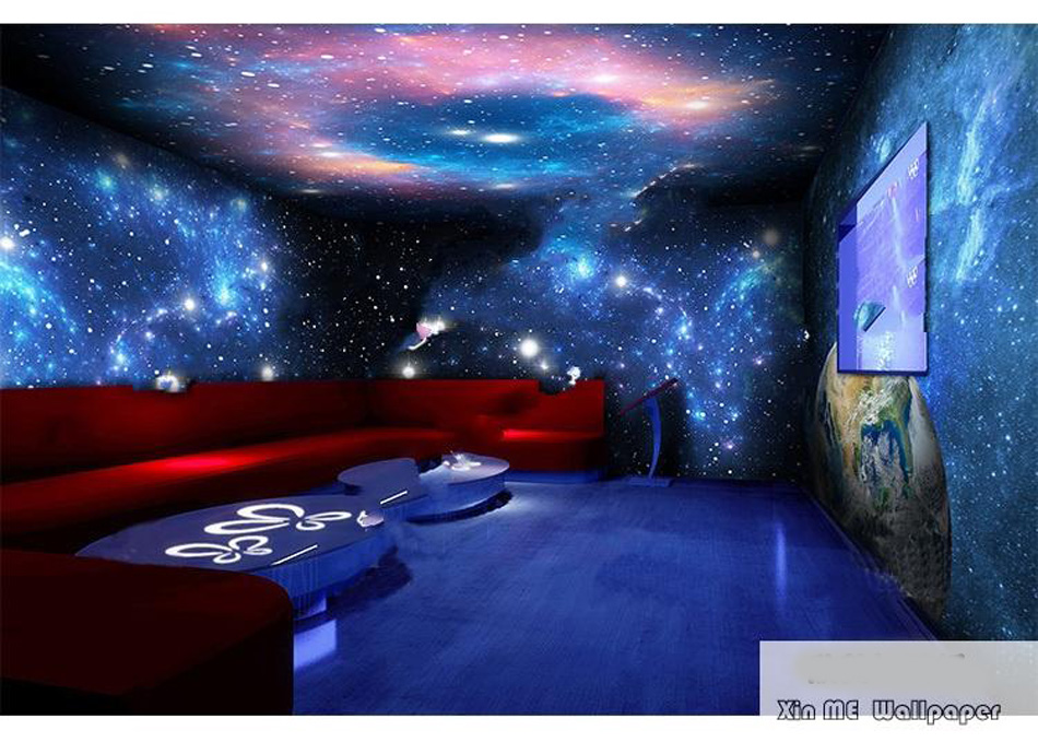 Large Starry Night Sky Star Space 3D Wallpaper Mural Rolls Prints On  Embossed Wall Paper Livingroom Wall Cover Household Decor In Wallpapers  From Home ... Part 30
