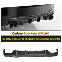 Carbon Fiber / FRP Rear Bumper Diffuser Lip Spoiler for BMW 525i 528i 5 Series F10 M Tech M Sport Sedan 2011 2016