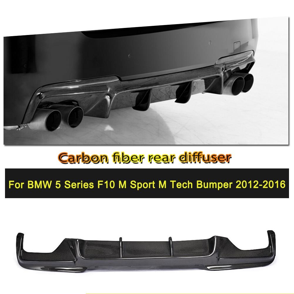 Car-Styling Carbon Fiber / FRP Rear Bumper Diffuser Lip Spoiler for BMW 525i 528i 5 Series F10 M Tech M Sport Sedan 2011 - 2016Car-Styling Carbon Fiber / FRP Rear Bumper Diffuser Lip Spoiler for BMW 525i 528i 5 Series F10 M Tech M Sport Sedan 2011 - 2016