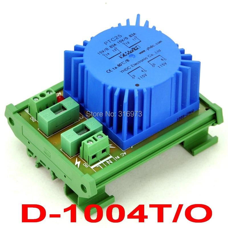 P 115VAC, S 30VAC, 25VA DIN Rail Mount Toroidal Power Transformer Module.