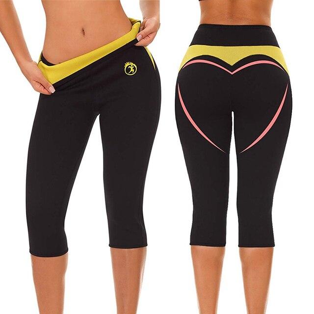 LAZAWG Women Body Shaper Workout Waist Trainer Butt Lifter Tights Capris Hot Pants Tummy Control Panties Hot Neoprene Pants Slim