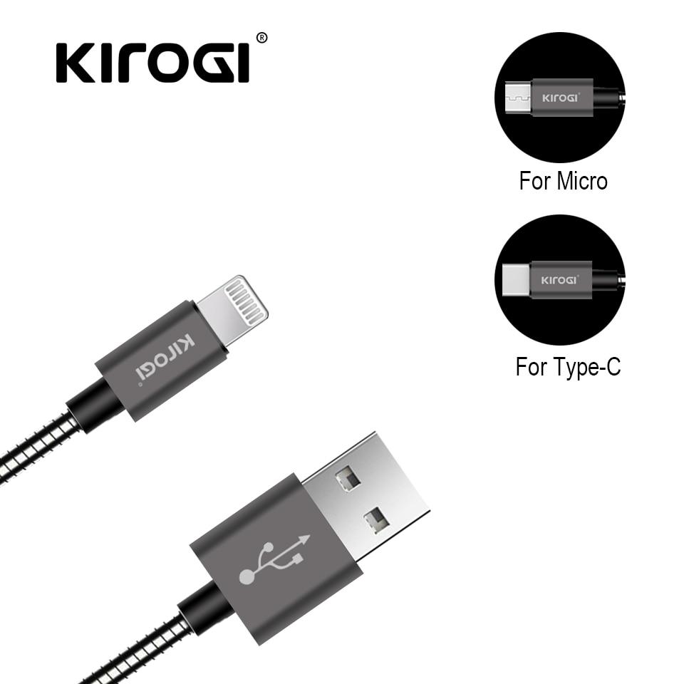 Handy-zubehör Kirog Imetal Frühling Usb Daten Sync Kabel Usb Ladegerät Für Iphone X Xr Xs 8 7 Für Samsung Huawei 2.1a Schnelle Lade Kabel