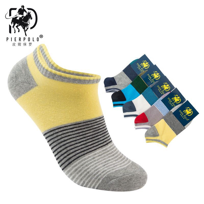 2018 New Fashion Casual elastic invisible Socks for men Summer Models Striped cotton socks 5 pairs sock happy gifts for man