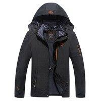 Moda Wiosna Jesień Mężczyźni Odzież Wodoodporna Wiatroszczelna Kurtka Marki AmberHeard Turystyka Mountain Jacket Plus Size 8XL Męskie Płaszcze