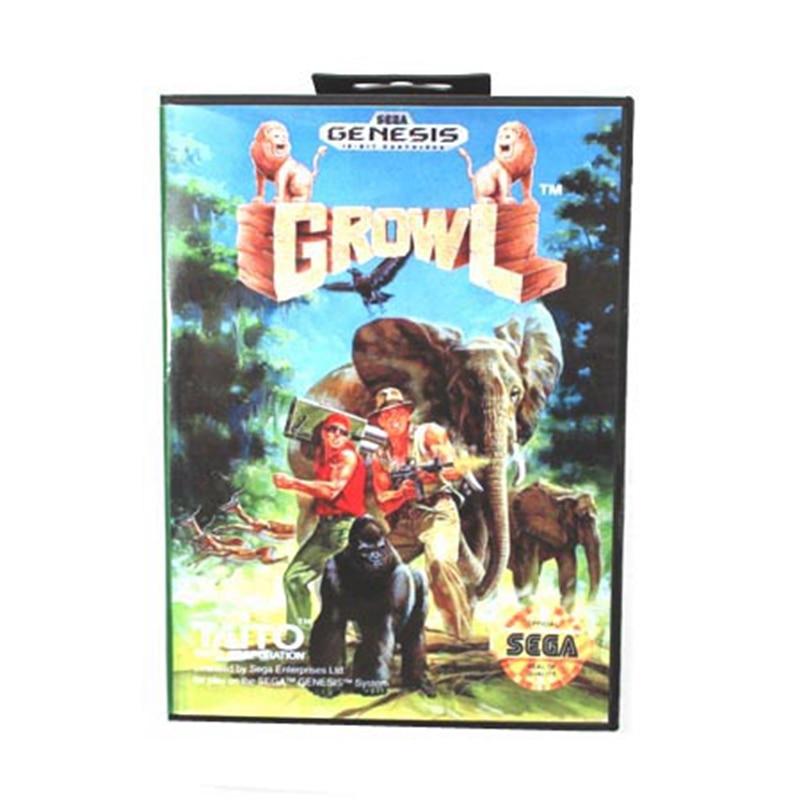 Growl Boxed Version 16bit MD Game Card For Sega Mega Drive And Genesis