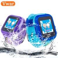 Vwar DF27 Waterproof Children GPS Swim Phone Smart Watch Baby Watch SOS Call Location Device Tracker