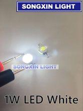 200 pces cree real o suficiente 1w branco de alta potência conduziu a lâmpada grânulos diodos de leds lâmpada 110-120lm chip smd para a luz do ponto downlight lâmpada