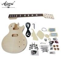 China Aiersi Custom LP style DIY Electric Guitar Kits Model EK 004