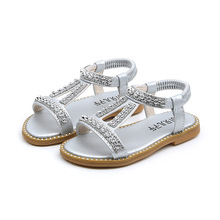 COZULMA 2019 New Kids Summer Sandals For Girls Rhinestone Princess Fashion Shoes Children Gladiator