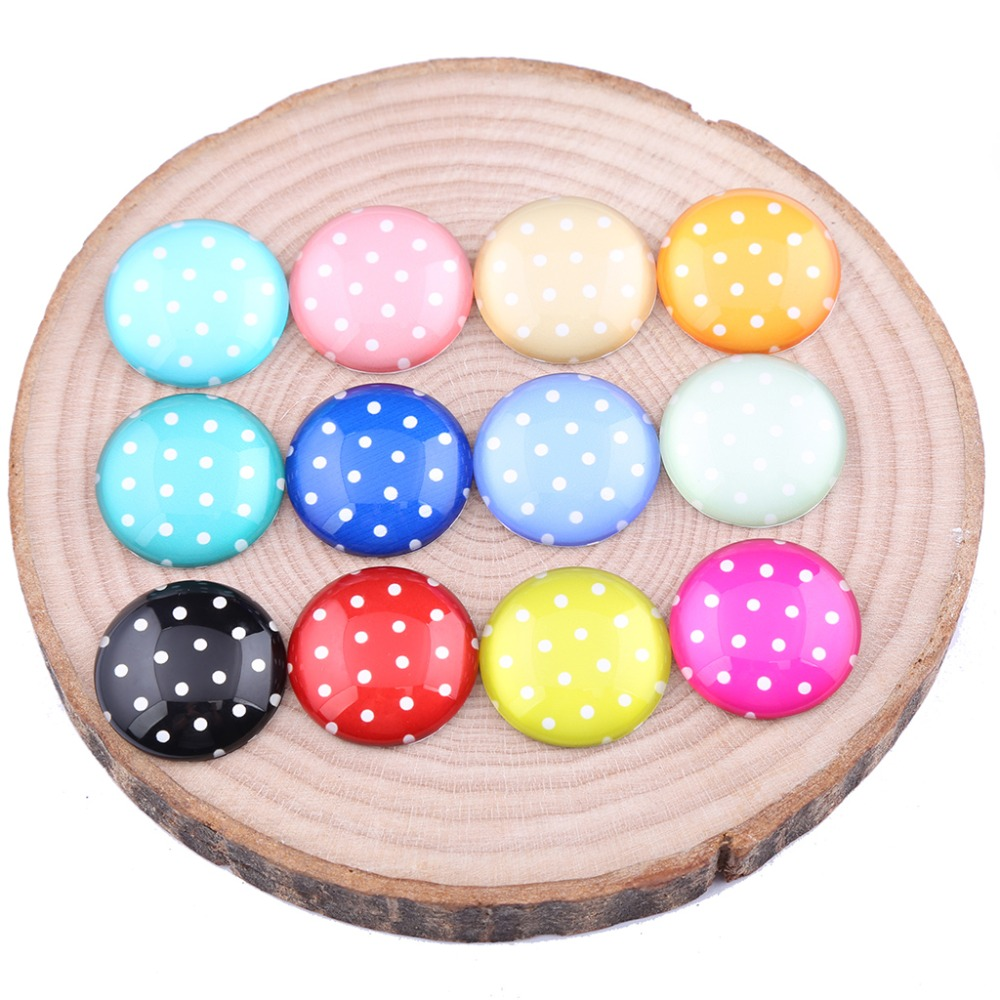 reidgaller podka dot photo round dome glass cabochon 10mm 12mm 14mm 18mm 20mm diy jewelry accessories for earrings