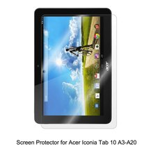 Clear LCD PET Film Anti-Scratch / Touch Responsive Screen Protector Cover for Acer Iconia Tab 10 A3-A20 Tablet Accessories