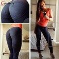 2017 Venta Caliente Vaqueros Jeggings Pantalones Lápiz Leggings Mujer fitness workout Ropa mujer leggins leggings mujeres atractivas gymclothing