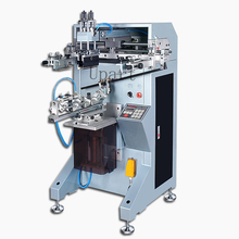 single color label bottles/cups/tubes/volumetric flasks automatic cylinderical screen printer