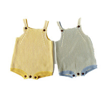 Newest Baby Girl knitted Clothes striped Print Baby   Rompers   Jumpsuit Soft Cotton New Born Baby hand wool knit   Romper   Girls