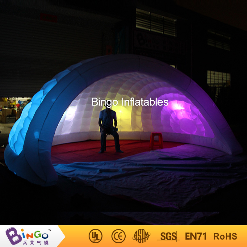 Free delivery 5M LED lighting inflatable dome tent for wedding party hot sale inflatable igloo tent for stage props toy tents white blow up igloo dome inflatable tent product for promotion