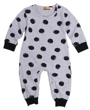baby boy girl long sleeve romper organic polka dot back printed me letter rompers cotton romper