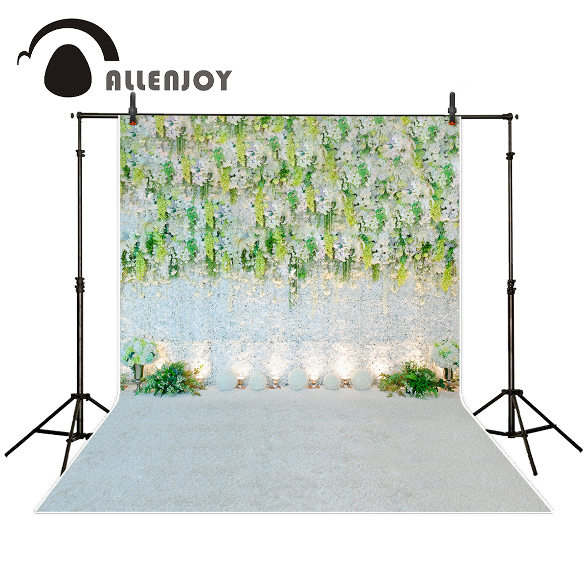 Allenjoy photography backdrop Romantic wedding white flower plant background photo studio new design camera fotografica allenjoy photography backdrop flower door wedding children painting colorful background photo studio photocall photo shoot