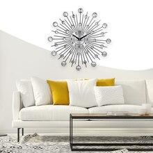 Винтажные настенные часы с металлическими кристаллами, роскошные большие настенные часы с бриллиантами, настенные часы Da Parete, дизайнерские часы для домашнего декора, Wandklok