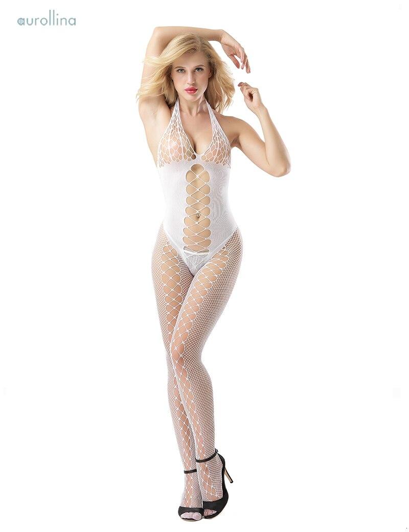 Wild Sex Lingerie Pantyhose Nylon Bodystocking MILF Fancy Fishnet Dress Outfit  (2)