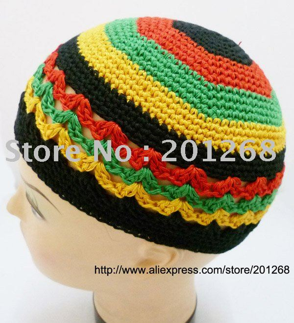 Crochet Rasta Reggae Beanie Skull Cap Kufi Knit Hat On Aliexpress