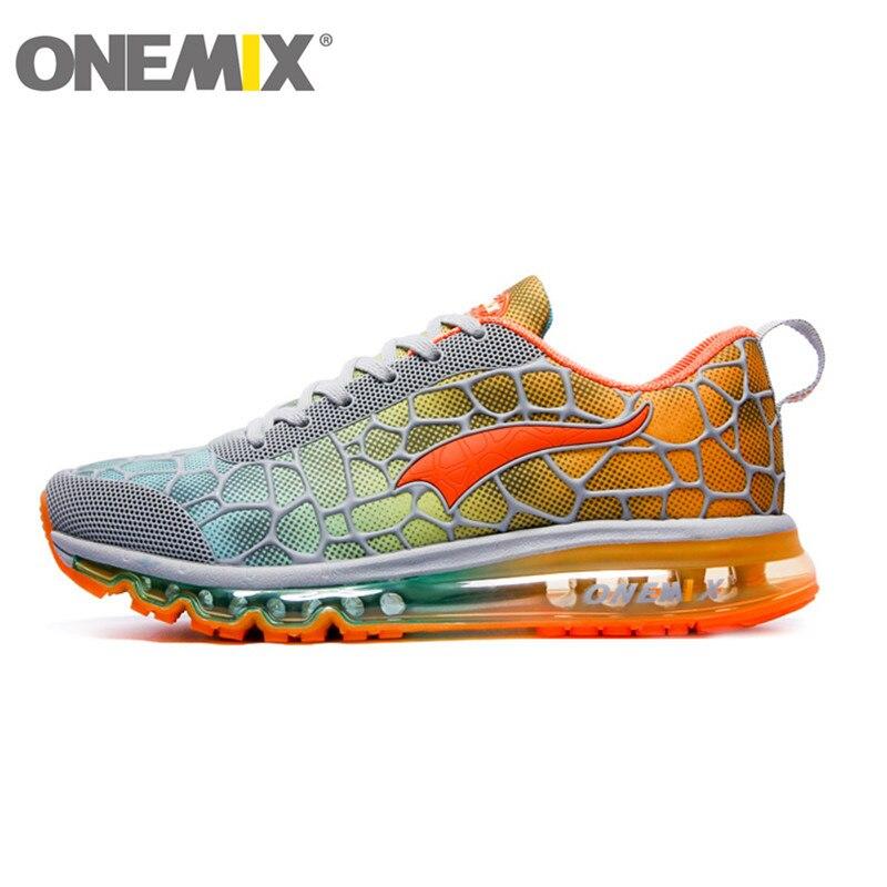Кольцо Onemix воздушной подушке оригинальный Zapatos de Hombre Мужская Спортивная уличная спортивная обувь женские кроссовки размеры 36–47