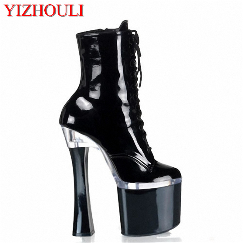a60230493fd fashion sexy knight female 8 inch high heel platform ankle boots for women .