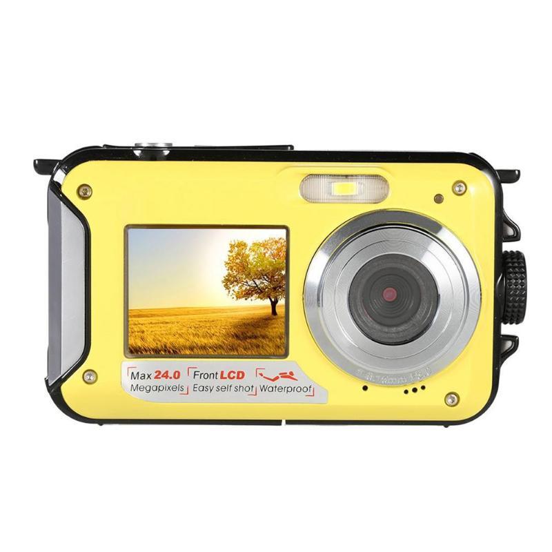 Enfants jeu étanche 24MP Double écran caméra sous-marine enfants capteur CMOS 2.7 pouces Mini caméra jouets avec carte TF 32 GB - 2
