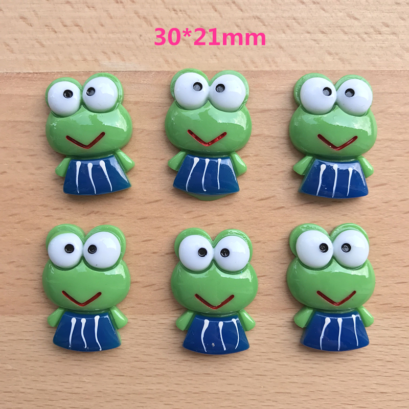 10pcs Kawaii frog resin crafts,flatback resins cabochon for hair bows, home decoration accessories,DIY