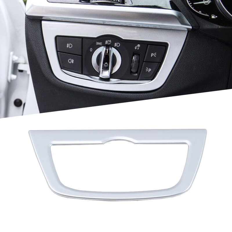 For BMW X3 X4 G01 G02 Stainless Rear Seat Adjust Button Frame Cover 2018-2019