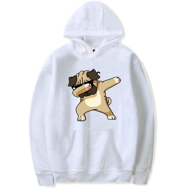 Men's Hoodies 2018 Autumn Winter Fashion Animal Dog Print Hoodie women casual Sweatshirts Unisex hoody Male coat plus size 4XL