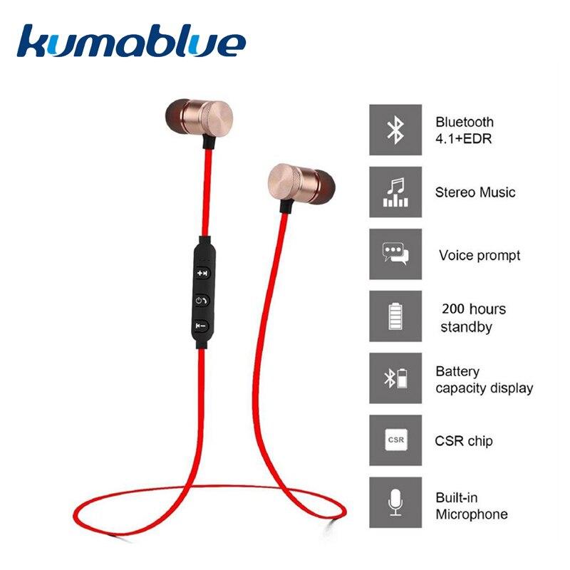 Ímã XT-6 Fones De Ouvido Bluetooth Sem Fio Fone de Ouvido Handsfree Fone De Ouvido De Metal com Microfone para Iphone X xiaomi Fones De Ouvido fone de ouvido 1