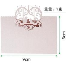 20Pcs/lot Love Heart Laser Cut Wedding Reception Place Card