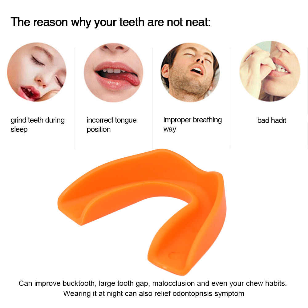 1Pc Silicone Tooth Orthodontic Appliance Trainer Tooth Alignment Appliance  Teeth Orthodontic Retainer Dental Tray Mouthguard