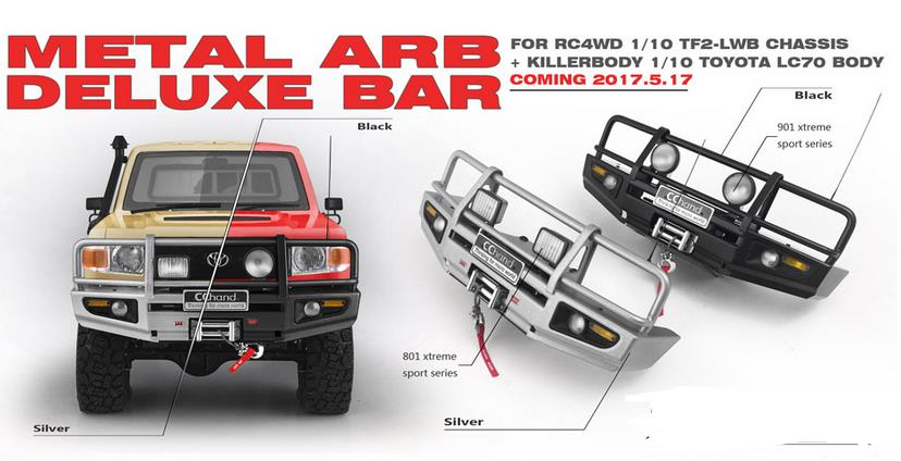 Rc Cars For Sale Online South Africa: Metal Front Bumper With Winch/Led Lamp For Killerbody 1/10