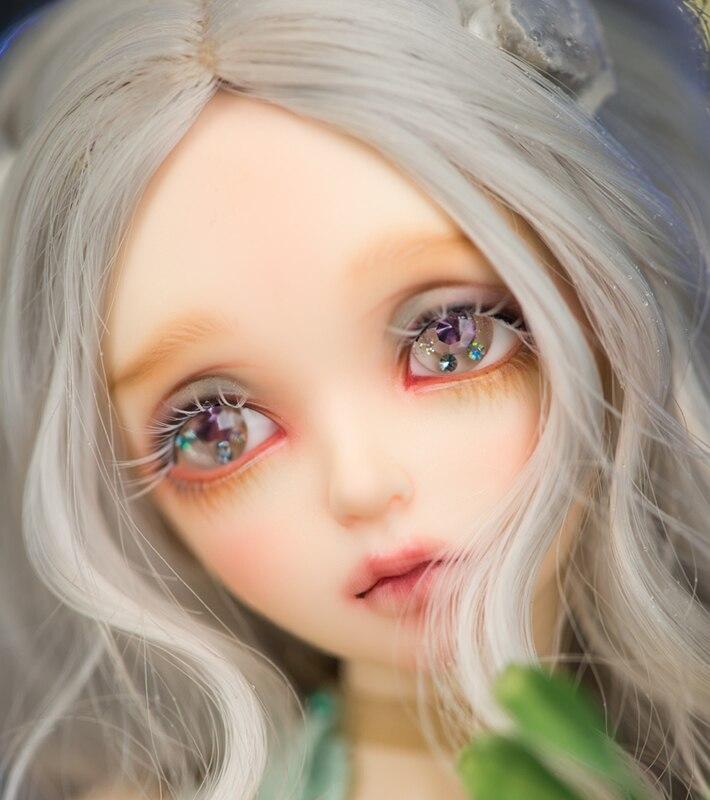 EVa 1/4 femelle bjd femme poupée donner globe oculaire joint poupée cadeau