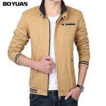 Boyuan jaqueta masculina männer bomber jacke windjacke blouson homme printemps jaqueta masculina casual marke mantel h813