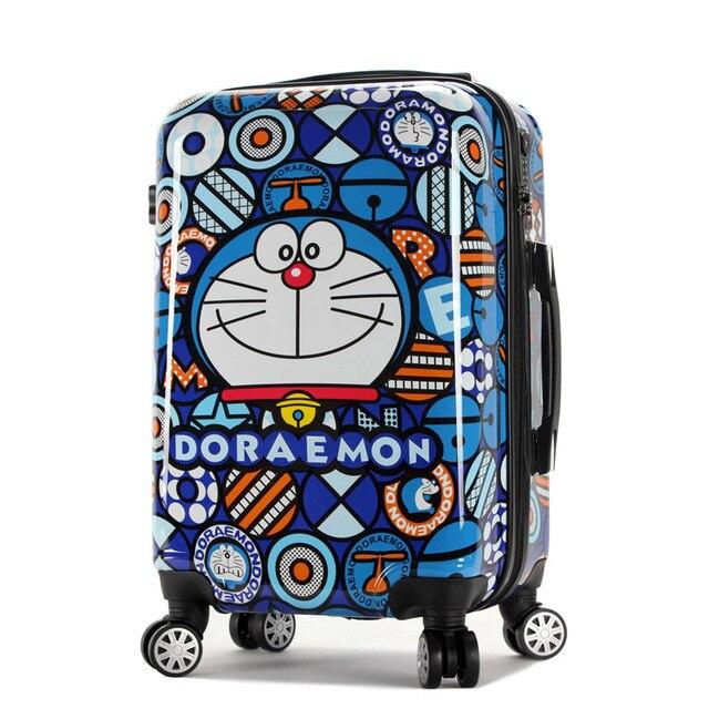 397ad2bcb Nuevo equipaje de dibujos animados Doraemon, Maleta de viaje de moda para  hombres y mujeres