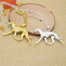 LPHZQH Boho Chic cute dog Greyhound necklace Women Whippet pendant necklace choker collars accessory gift punk gold silver color