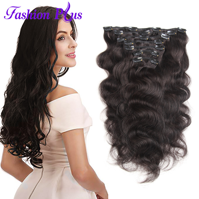 Fashion Plus Machine Made Remy Hair Clip In Extensions 120g Full
