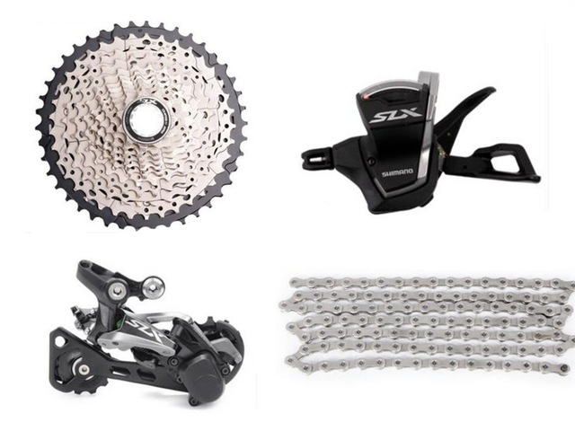 Shimano SLX M7000 Transmission kit vélo vélo vtt Groupe Groupset 11 vitesses 4 pièces dérailleur Arrière Shiffter 40 T 42 T 46 T Cassette