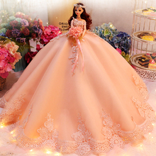 Large Skirt Princess Dolls Toys For Girls Wedding Dolls Lol Toy Reborn Doll Toy Girl Emulation Reborn Doll Toys For Children lol shell doll toys for girls godd quantly lol pearl dolls for kids child children blue and green stand by one piece generation