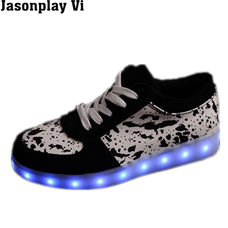 Jasonplay Vi & new couple 2016 LED personality shoes man 7 color light shoes fashion shoes mode USB jogging casual shoes WZ225